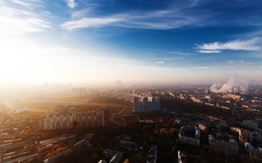 Обои город, обои, москва, дома, панорама, wallpaper, россия, мегаполис, обзор, небоскрёб, столица, moscow