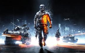 Обои battlefield 3, игра, техника, солдат