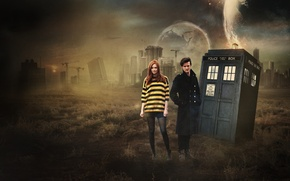 Обои Karen Gillan, Matt Smith, Eleventh, Doctor Who