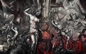 Картинка женщины, боль, art, семь кругов ада, ад мужчины, the seventh circle of hell