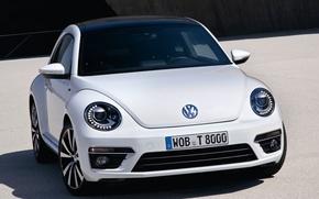 Картинка белый, Volkswagen, стильный, Beetle R