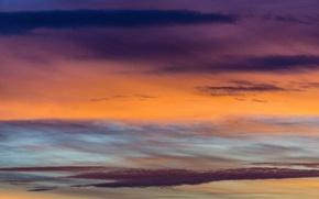 Картинка colorful, twilight, sky, sunset, pink, clouds, orange, dusk, purple