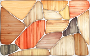 Картинка мозаика, дерево, цвет, древесина, срез