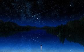 Обои небо, звёзды., Darker than black