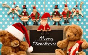 Картинка шарики, украшения, праздник, Новый Год, Рождество, Christmas, New Year, teddy bear