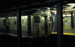 Картинка креатив, метро, поезд, станция, разное, остановка