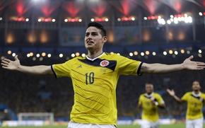 Картинка Спорт, Футбол, Бразилия, Football, Sport, Футболист, Brasil, Colombia, Колумбия, Игрок, World Cup 2014, Чемпионат Мира ...