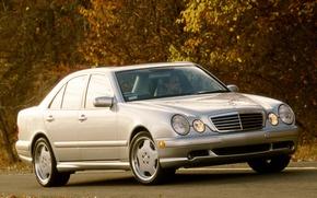 Картинка Mercedes-Benz, Mercedes, E-class, AMG, E-Klasse, 1999, E-класс, W210, Executivklasse, Лупатый, Глазастый