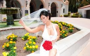 Картинка букет, denise milani, свадебное платье