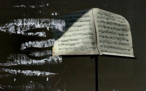 Картинка ноты, музыка, фон