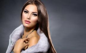 Картинка взгляд, девушка, макияж, украшение, Анна Субботина