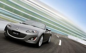 Картинка дорога, скорость, Mazda