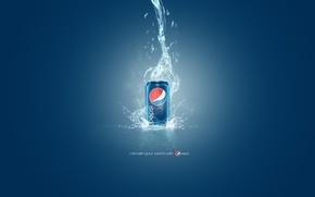 Картинка вода, капли, стиль, лого, банка, logo, напиток, слова, фраза, style, water, 1920x1200, words, бренд, марка, …