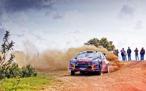 Обои Машина, DS3, Поворот, Ситроен, Пыль, День, Люди, Занос, WRC, Rally, Citroen, Ралли