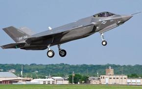Картинка ВВС США, истребитель-бомбардировщик, Lightning II, F-35, Lockheed Martin