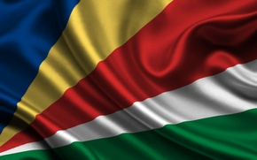 Картинка Красный, Синий, Белый, Флаг, Текстура, Жёлтый, Зелёный, Seychelles, Сейшельские Острова, Республика Сейшельские Острова, Republique des …