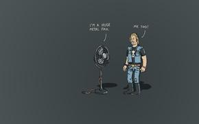 Обои игра, вентилятор, фан, слов, хэви метала