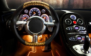 Картинка Bugatti veyron 16.4 linea vincero d'oro, mansory, авто, бугатти вейрон