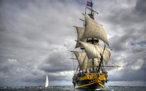 Картинка море, парусник, фрегат, Grand Turk