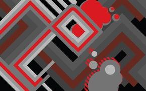 Картинка линии, абстракция, фигура, объем, слой