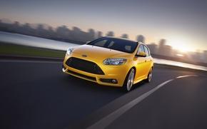 Картинка Ford, Focus, Yellow, Sport, Hatchback