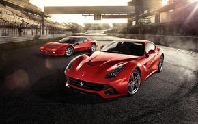 Обои ferrari, 512bb, ferrari, f12, berlinetta, red, supercars, track, days