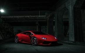 Картинка Lamborghini, Dark, Red, V10, Supercar, Exotic, Huracan, Ligth, LP640-4