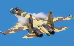Картинка полет, самолет, су-35, авиошоу