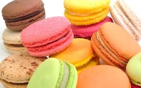 Картинка еда, печенье, сладости, сахар, разноцветное, десерт, сладкое, макарун