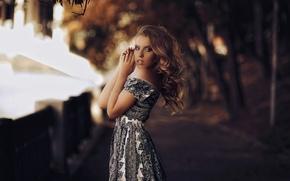 Картинка портрет, платье, боке, Karen Abramyan