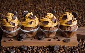 Картинка кофе, шоколад, печенье, пирожное, крем, выпечка, кексы, Anna Verdina, OREO
