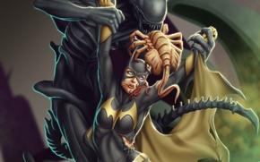 Обои личинка, ксеноморф, Batgirl, захват, размножение