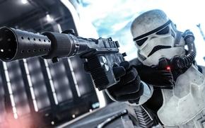 Обои оружие, экипировка, Battlefront, Star Wars, Stormtrooper