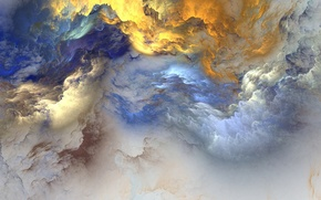 Картинка colors, clouds, фон, abstract, background, облака, unreal