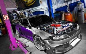 Обои S15, Silvia, Nissan, MEGA EXPANSION, гараж