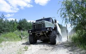 Картинка внедорожник, грузовик, вседорожник, kraz, военные авто, Краз