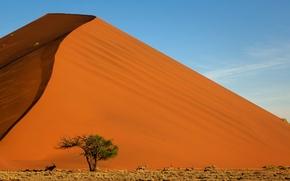 Обои гора, песок, небо, пейзаж