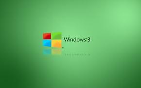 Обои компьютер, отражение, обои, эмблема, windows, операционная система