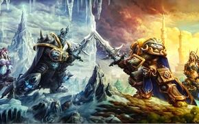 Картинка warcraft, art, arthas, Sylvanas, Heroes of the Storm