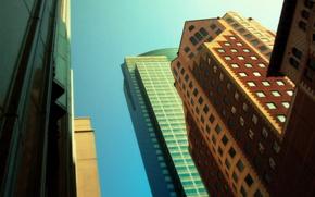 Обои разное, улица, небоскрёбы, дома, город