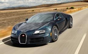 Картинка дорога, скорость, суперкар, Bugatti Veyron, бугатти, Super Sport, гиперкар, 16.4