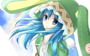 Картинка романтика, аниме, арт, костюм, девочка, приключения, зайчик, ушки, комедия, Yoshino, свидание с духом, Date a ...