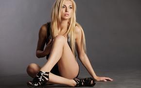 Картинка sexy, legs, blonde, pose