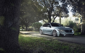 Обои BMW, F80, Silver, M3, Sport, Car, 2015, German