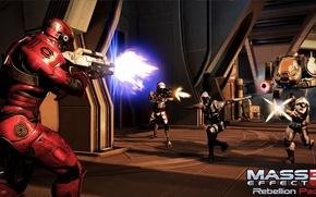 """Картинка ракета, штурмовик, страж, атлас, фантом, Mass Effect 3, дополнение """"восстание"""", Rebellion Pack, Цербер, кварианец инженер, …"""