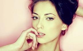 Картинка взгляд, анна сбитная, Anna Sbitnaya, лицо, девушка