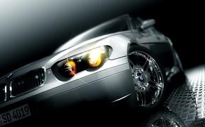 Обои свет, серый, BMW