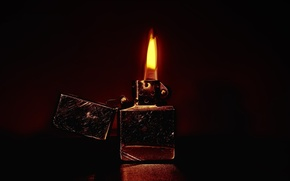 Обои огонь, пламя, зажигалка, царапины, zippo