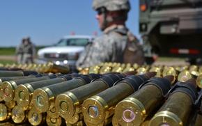 Картинка макро, оружие, солдат, патроны, Full Metal Jacket, пулеметная лента