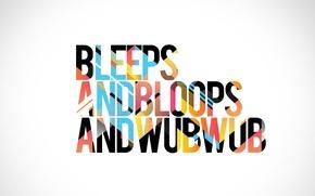 Обои wub wub, bleeps, bloops, звуки, надпись, dubstep, dub